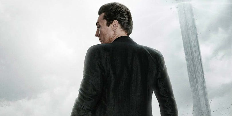 "Matthew McConaughey som ""The Man in Black"". Bilden är beskuren från en poster till ""The Dark Tower"""