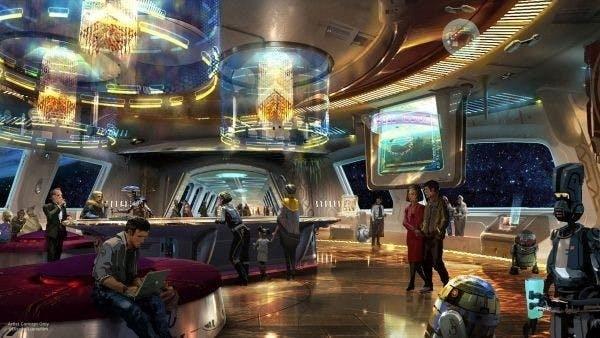 Stillbild på det planerade Star Wars-hotellet.