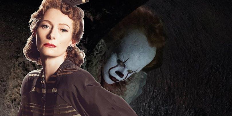Tilda Swinton och clownen Pennywise