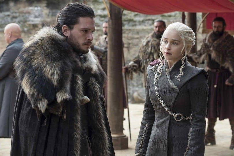 Kit Harington och Emilia Clarke i Game of Thrones