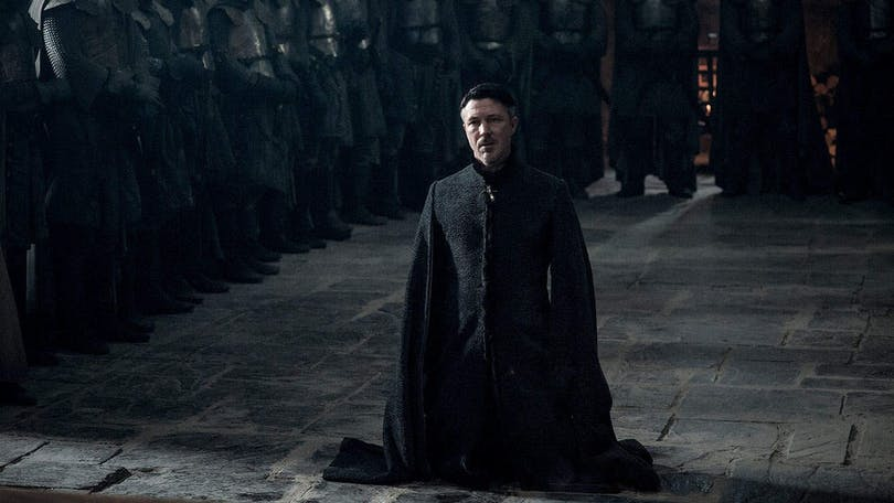Aiden Gillen som Littlefinger i Game of Thrones