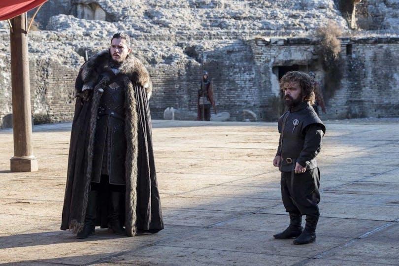 Kit Harington och Peter Dinklage i Game of Thrones