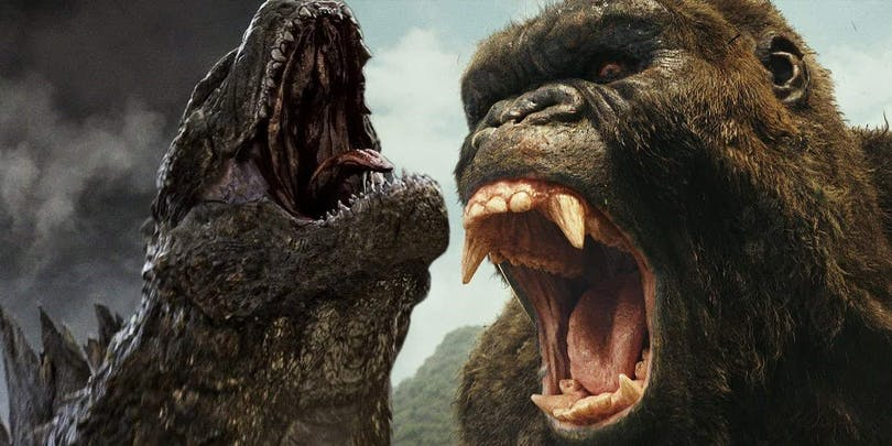 Bild på Godzilla och Kong.