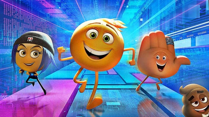 "Tre emojis springer i ""The Emoji Movie"""