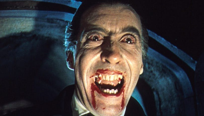 Christopher Lee som Dracula.