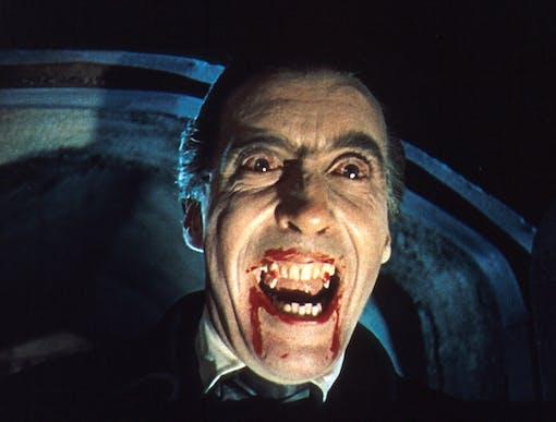 Christopher Lee som Dracula.