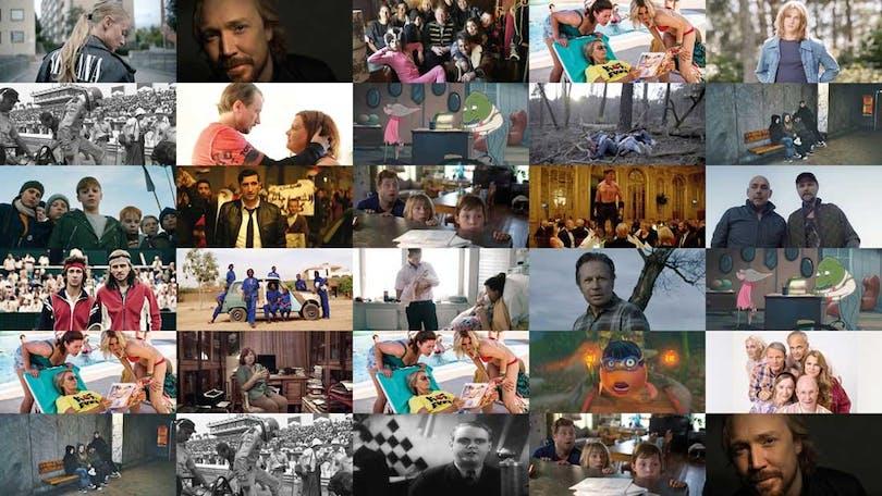 Ett collage med de svenska filmer som har premiär under hösten 2017