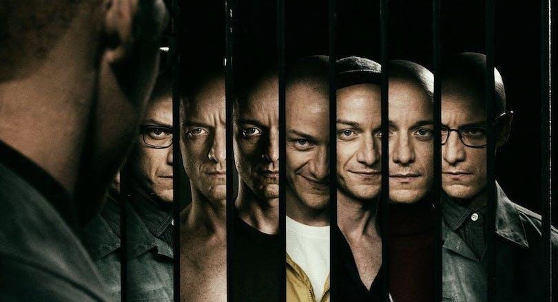 En bild på flera av McAvoys olika karaktärer