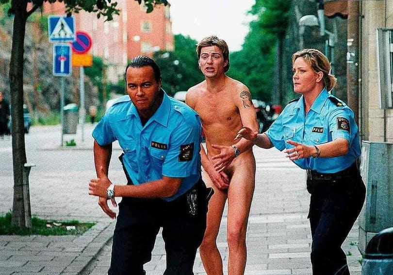 """Stillbild från den svenska filmen """"Naken"""""""