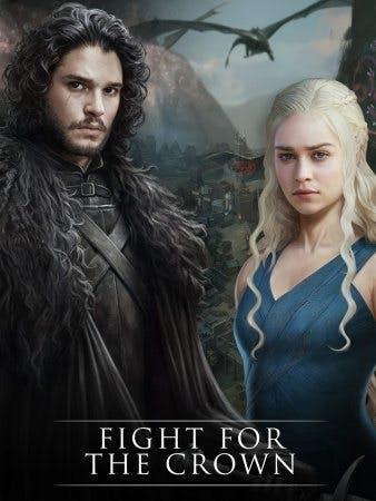 Jon Snow och Khaleesi från Game of Thrones