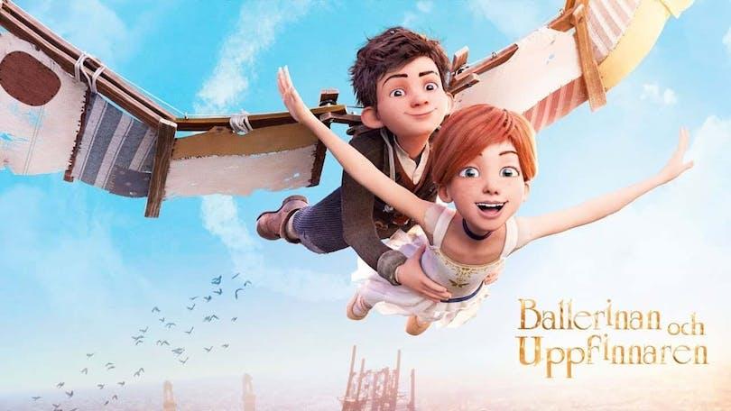 Bild på Felicie (röst av Elle Fanning) och Victor (röst av Dane DeHan) i filmen Ballerinan och uppfinnaren.