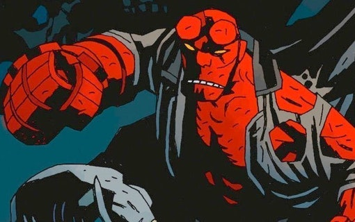 Spana in den första bilden på David Harbour som Hellboy!