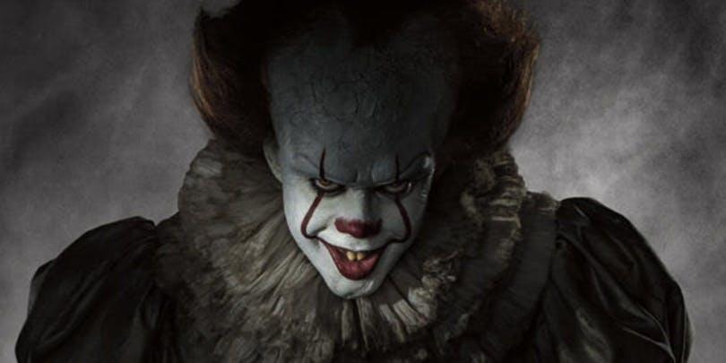 """Bild på Bill Skarsgård som clownen Pennywise i """"Det""""."""