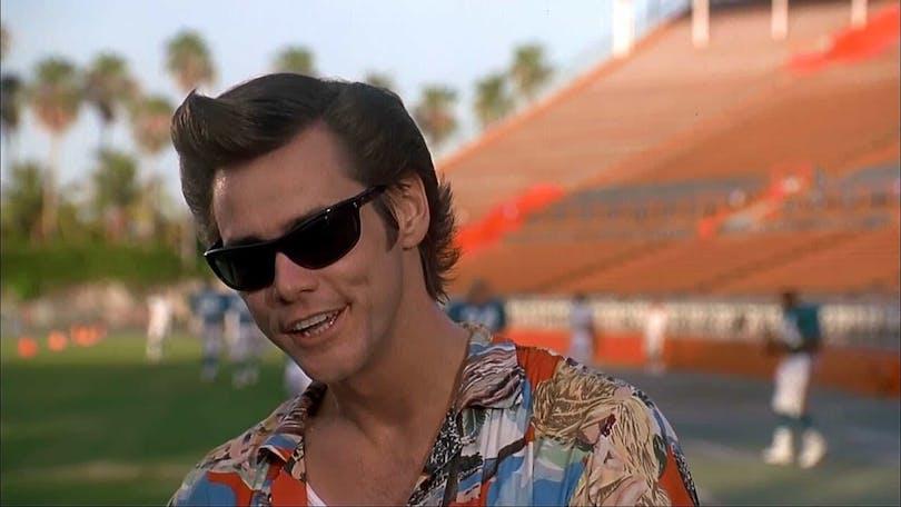 Bild på skådespelaren Jim Carrey som karaktären Ace Ventura.