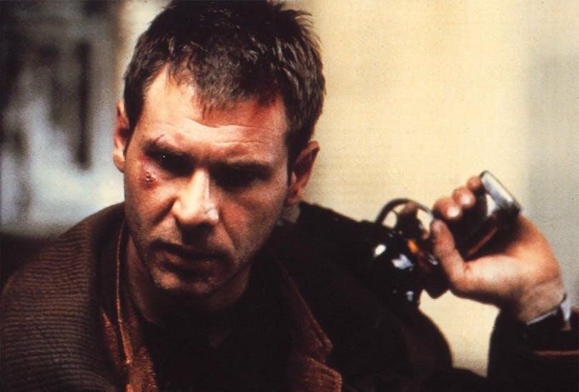 "Harrison Ford som Rick Deckard i filmen ""Blade Runner""."