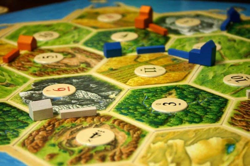 Bild på brädspelet The Settlers of Catan.