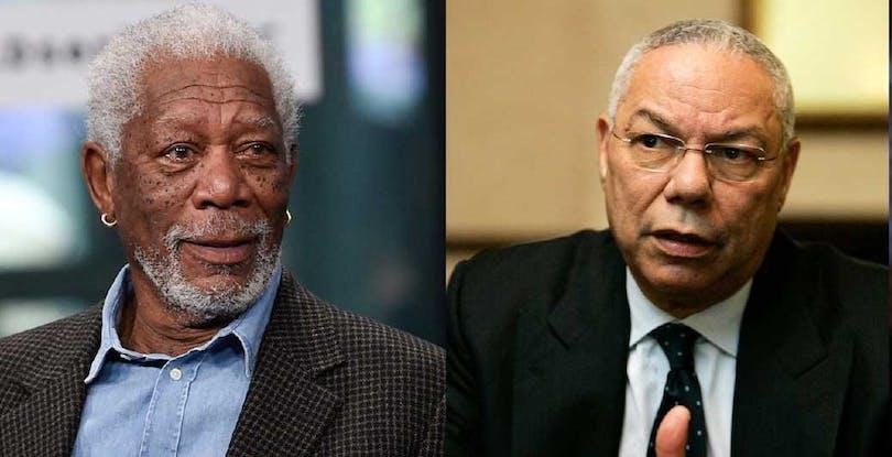 Morgan Freeman och Colin Powell