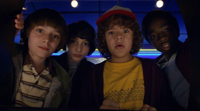 Nästan hela gänget samlat i Netflix-serien Stranger Things