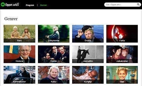 På öppet arkiv kan du streama film helt gratis.