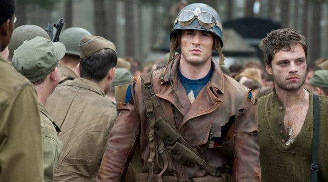 Chris Evans i Captain America: The First Avenger.
