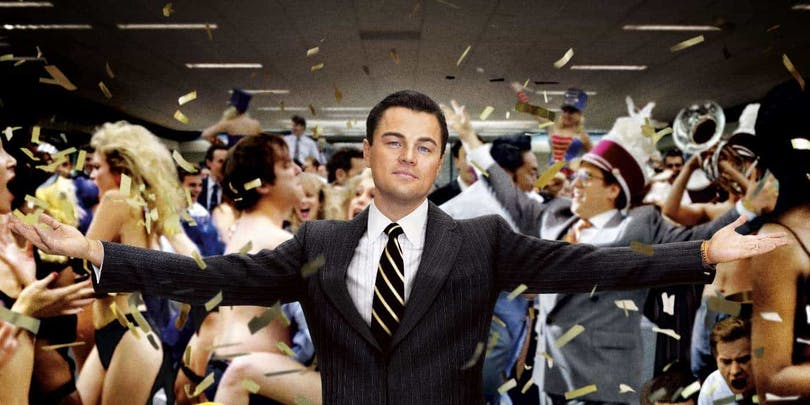 Leonardo Di Caprio i biografin The Wolf of Wall Street