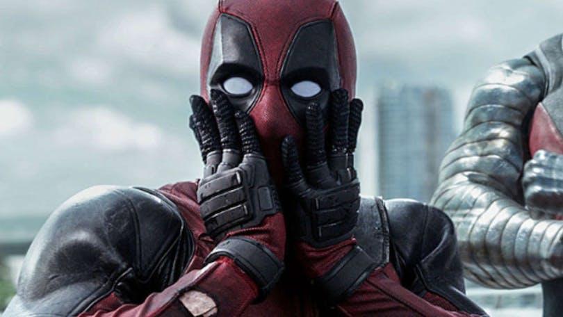 Deadpool håller sig för ansiktet