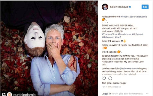 "Jamie Lee Curtis återvänder i nästa ""Halloween""!"