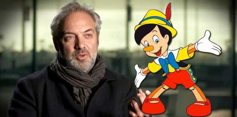 En bild på Sam Mendes och Pinocchio