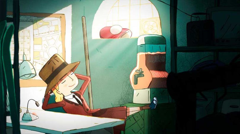 Stillbild ur den kommande svenska filmen Agatha Granndetektiven