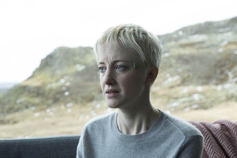 Andrea Riseborough i Black Mirror-avsnittet Crocodile