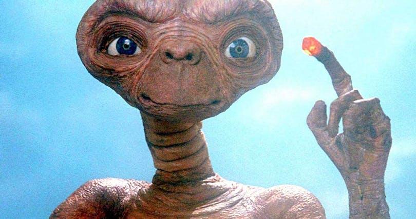 Rymdvarelsen i E.T. i Steven Spielbergs klassiska familjefilm.