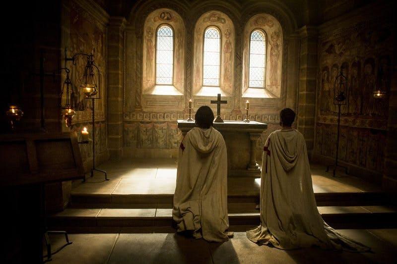 Tempelriddarma i Knightfall ber