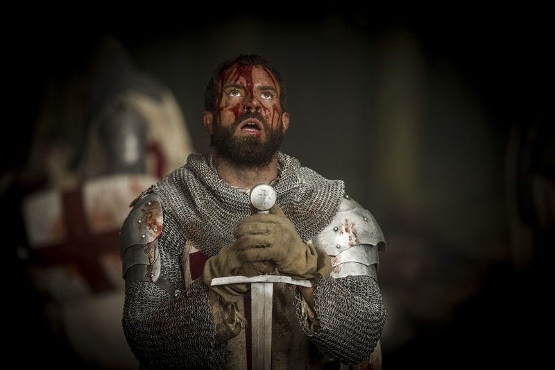 Tom Cullen som Landry, en av tempelriddarna, i Knightfall