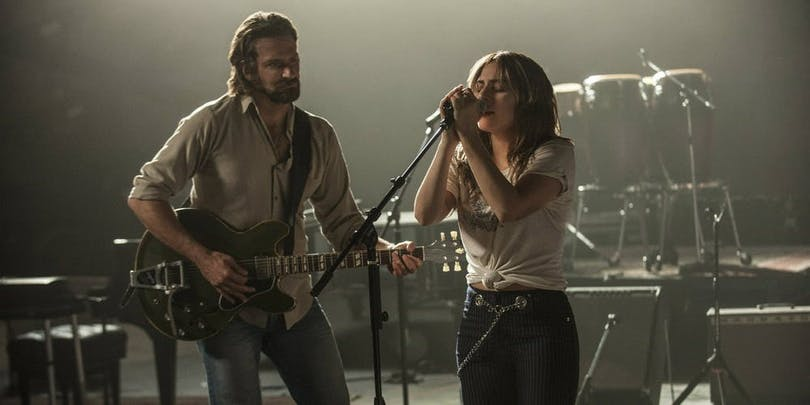 "Bradley Cooper och Lady Gaga i ""A Star Is Born"""