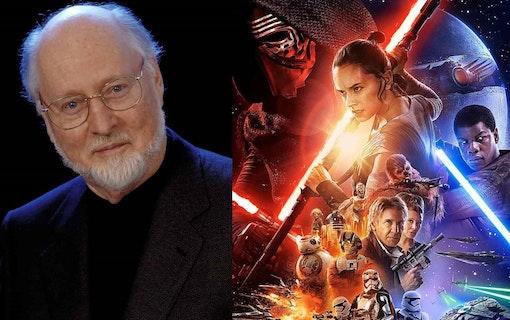 Musikern John Williams jobbar på Star Wars-filmen om Han Solo