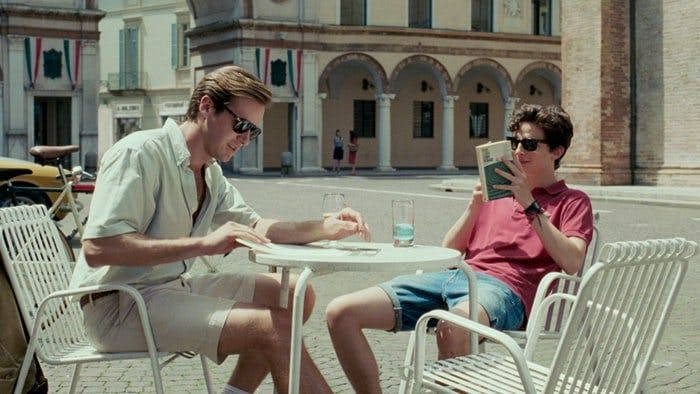 "Armie Hammer och Timothée Chalamet i ""Call Me by Your Name"""