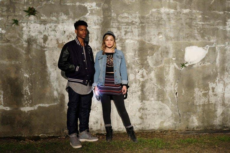 "Aubrey Joseph och Olivia Holt i ""Marvel's Cloak and Dagger"""