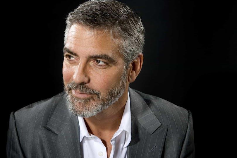 På bilden ser vi George Clooney