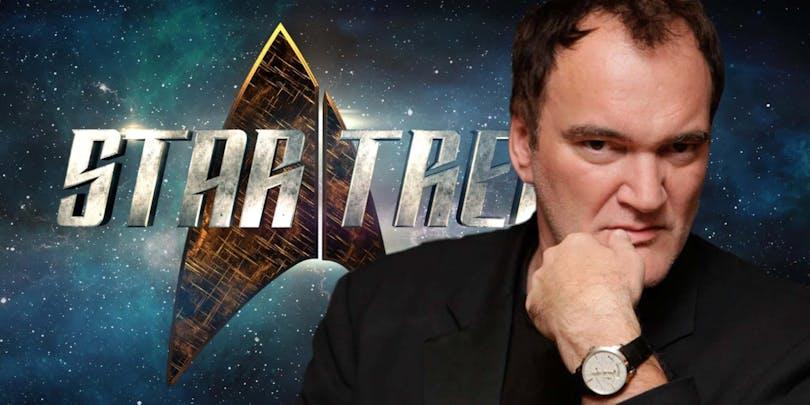 På bilden kan du se en fundersam Tarantino