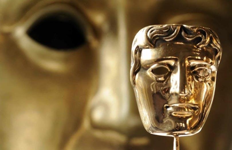 Bild på guldmasken som tilldelas vinnaren av brittiska filmpriset BAFTA.