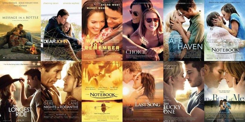 Nicholas Sparks 11 filmatiserade böcker.