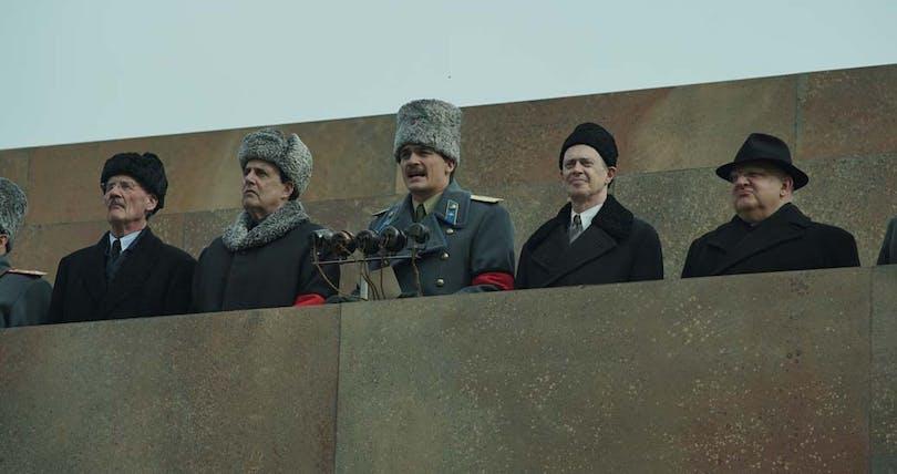 Politikerna håller tal i The Death of Stalin