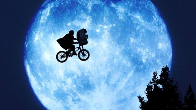 Cykeln och månen från E.T