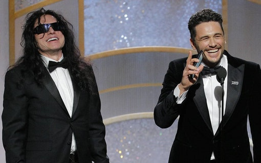 James Franco tog upp Tommy Wiseau på scen under sitt tacktal