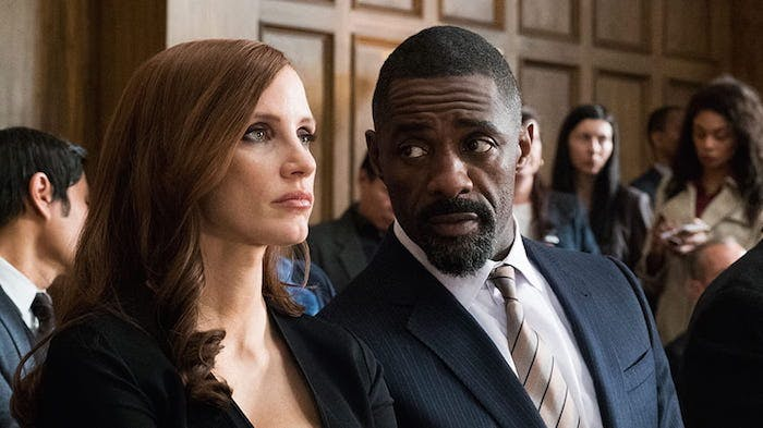 "Jessica Chastain och Idris Elba i ""Molly's Game"""