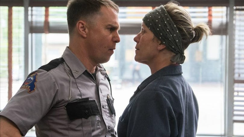 Sam Rockwell och Frances McDormand i Three Billboards outside Ebbing, Missouri (2017)