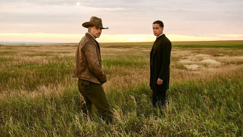 Logan Marshall-Green och Killian Scott i Damnation.