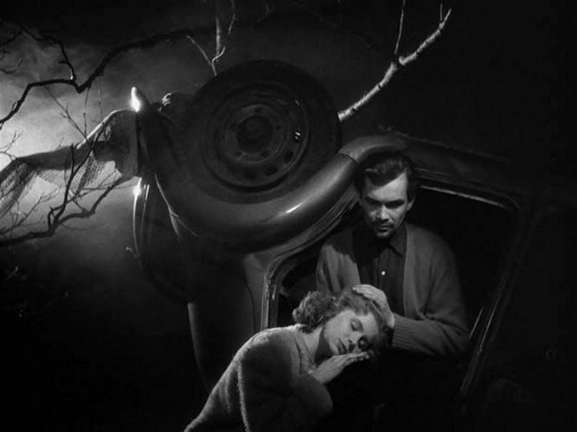 Doris Svedlund och Birger Malmsten i Fängelse av Ingmar Bergman.