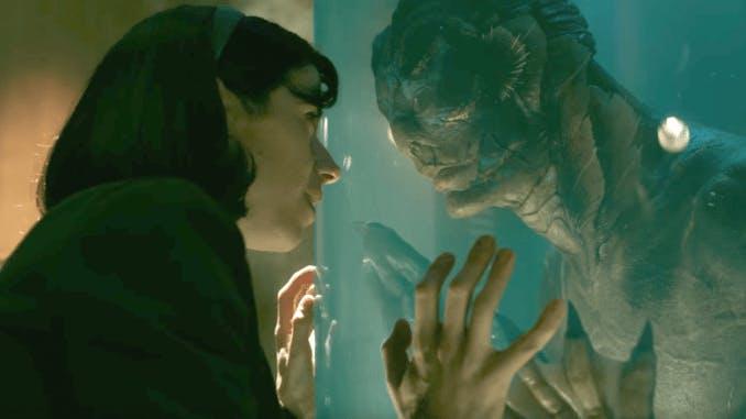 Elisa och varelsen i The Shape of Water, en av favoriterna på årets Oscarsgala