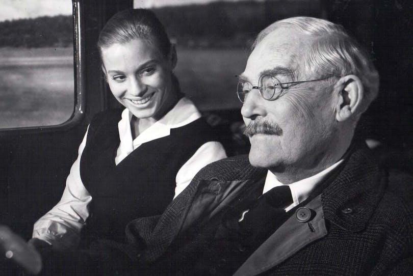 Ingrid Thulin och Victor Sjöström.